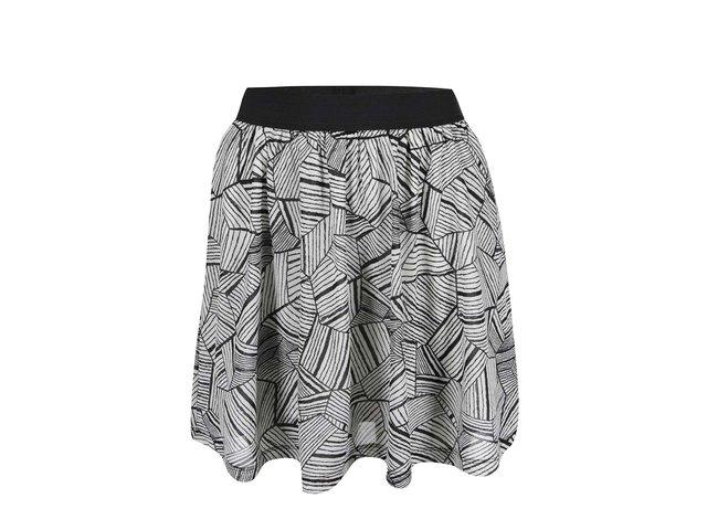 Černo-bílá vzorovaná sukně ONLY Gytte