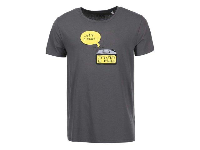 Šedé pánské triko ZOOT Originál Ještě 5 minut