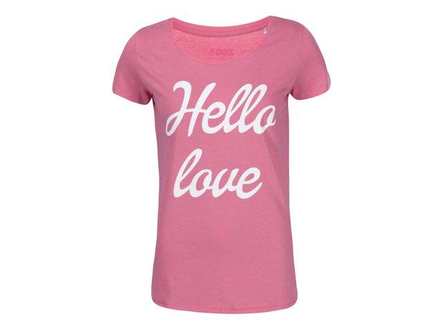 Růžové dámské tričko ZOOT Originál Hello Love