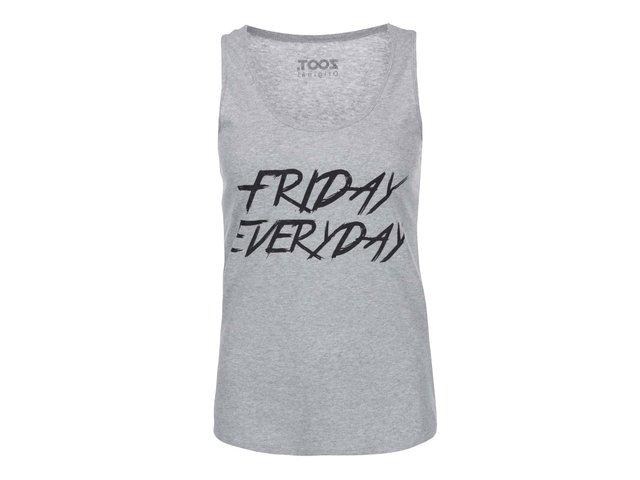 Šedé dámské tílko ZOOT Originál Friday Everyday