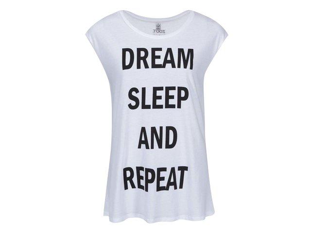 Bílé dámské tričko bez rukávů ZOOT Originál Dream, Sleep, Repeat