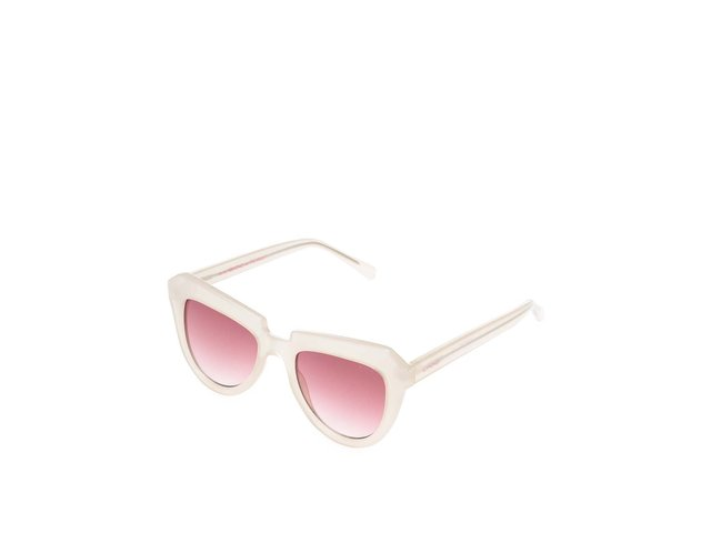 Béžové dámské sluneční brýle s růžovými sklíčky Komono Stella