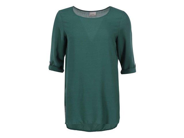 Zelený top s tříčtvrtečními rukávy Vero Moda Boca