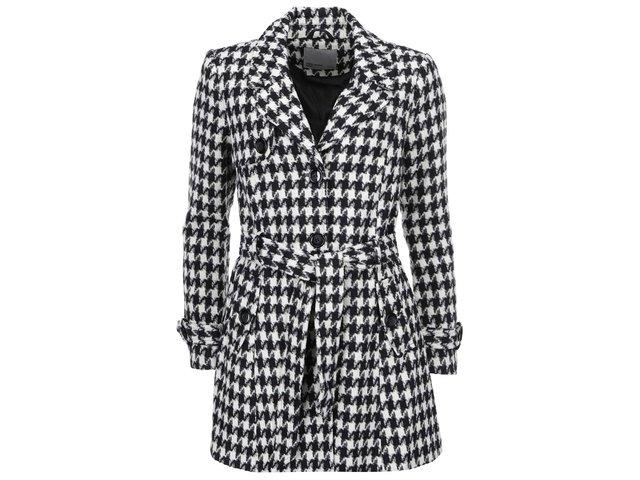 Černo-bílý kabát s kohoutí stopou Vero Moda Nia