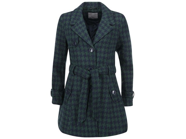 Modro-zelený kabát s kohoutí stopou Vero Moda Nia