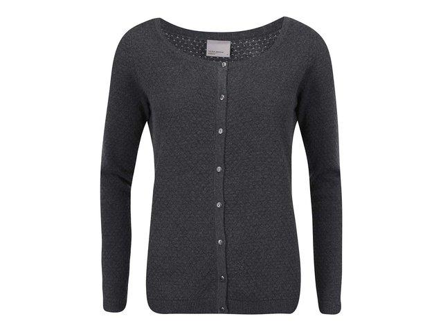 Tmavě šedý cardigan Vero Moda Care