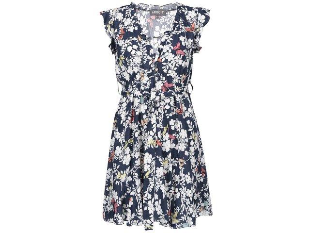 Tmavě modré květované šaty Apricot