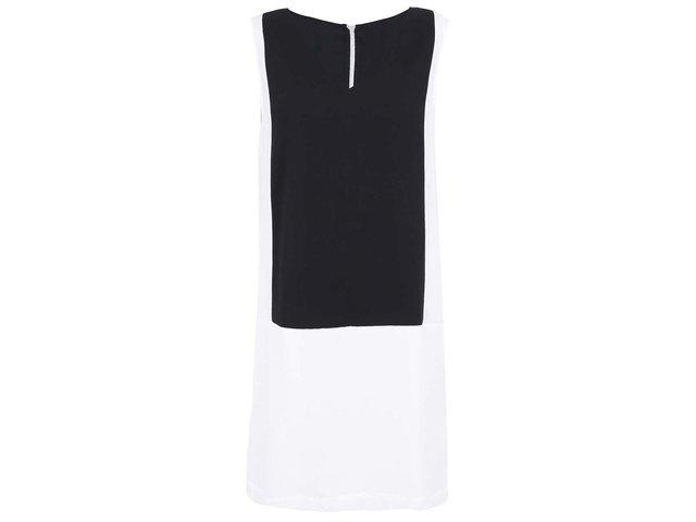 Černo-bílé krátké šaty Vero Moda Caroline