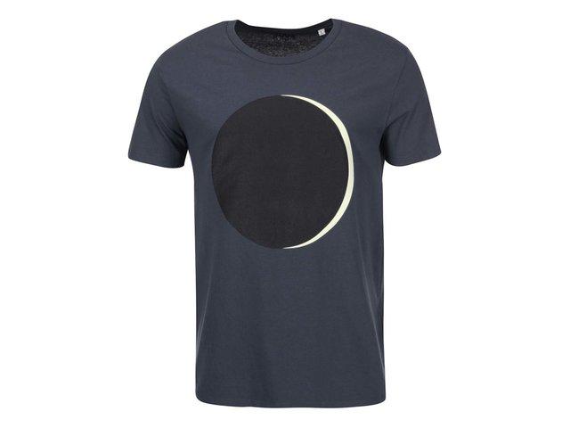 Modrošedé pánské triko s fosforeskujícím potiskem ZOOT Originál Moonlight
