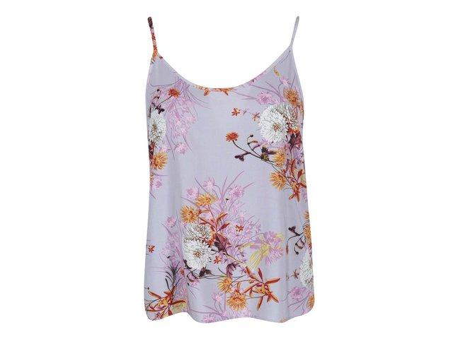 Fialové tílko s květy Vero Moda Easy