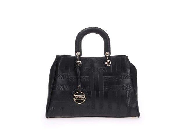 Černá kabelka s detaily ve zlaté barvě Gessy