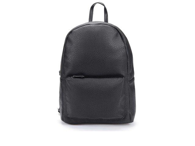 Černý koženkový batoh Pieces Ron