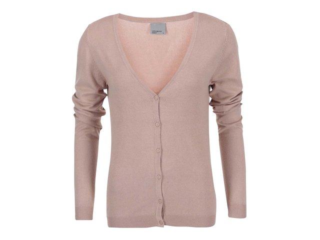 Béžový svetr s véčkovým výstřihem Vero Moda Glory