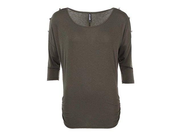 Khaki top s knoflíky na ramenou Haily´s Jill