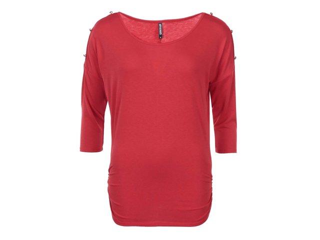 Červený top s knoflíky na ramenou Haily´s Jill