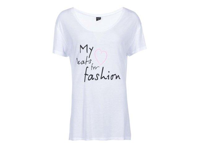 Bílé tričko s nápisem Haily´s Fashion