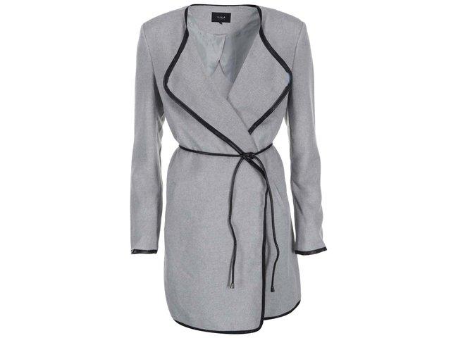 Světle šedý lehký kabát VILA Chic