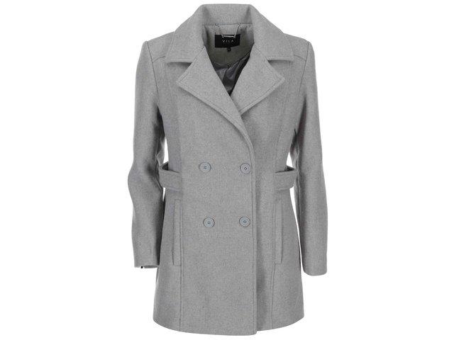Světle šedý kabát VILA Sound