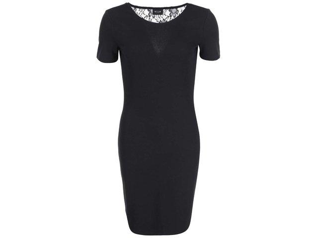 Černé šaty s krajkou VILA Sound
