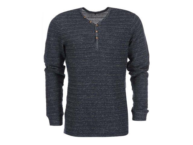 Bílo-modré žíhaně triko s dlouhým rukávem Blend