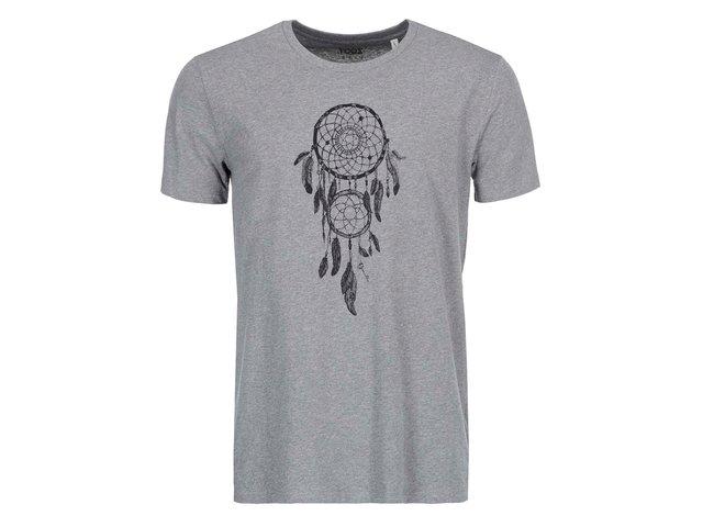 Šedé pánské triko ZOOT Lokál Lapač snů