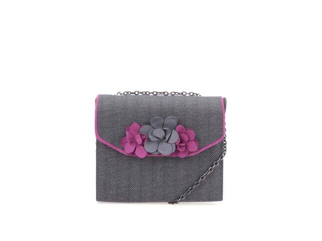 Šedá kabelka s květinami Ruby Shoo Oslo