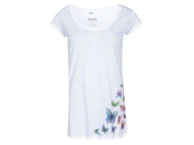 Bílé dámské tričko ZOOT Lokál Motýli