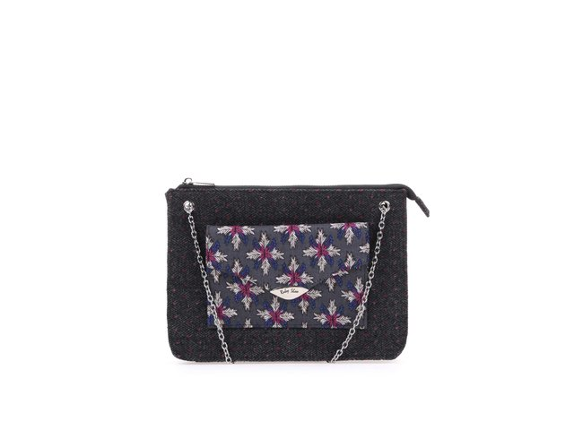 Tmavě šedá vzorovaná kabelka Ruby Shoo New York