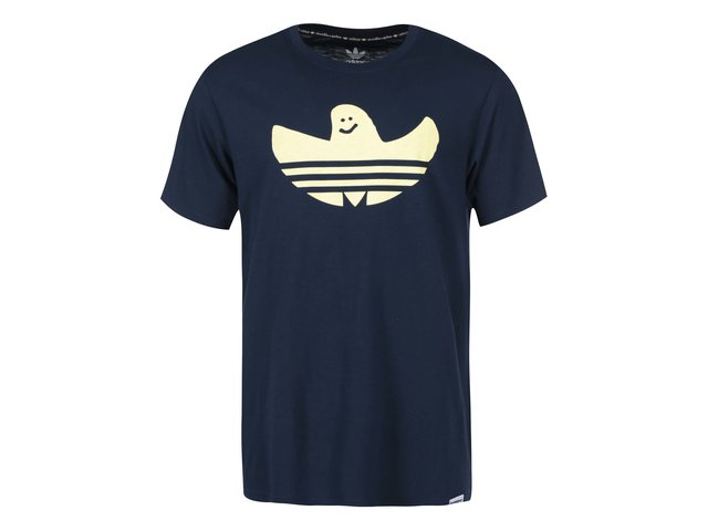 Tmavě modré pánské triko s potiskem adidas Originals Gonz Shmoo