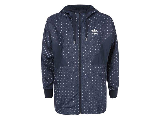 Modrá dámská bunda s puntíky adidas Originals Colorado