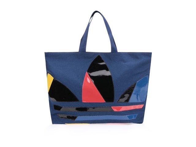 Tmavě modrý dámský shopper s logem adidas Originals Paris