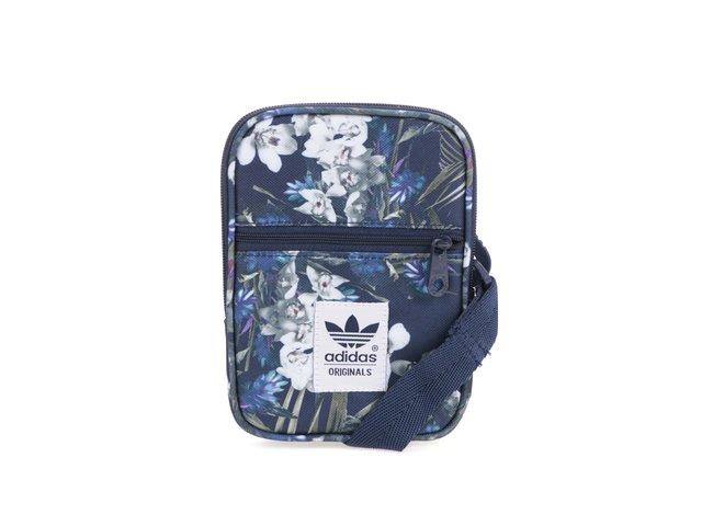 Tmavě modrá menší crossbody kabelka s květinovým vzorem adidas Originals