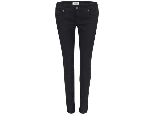 Černé dámské džíny s nízkým pasem Pepe Jeans Soho
