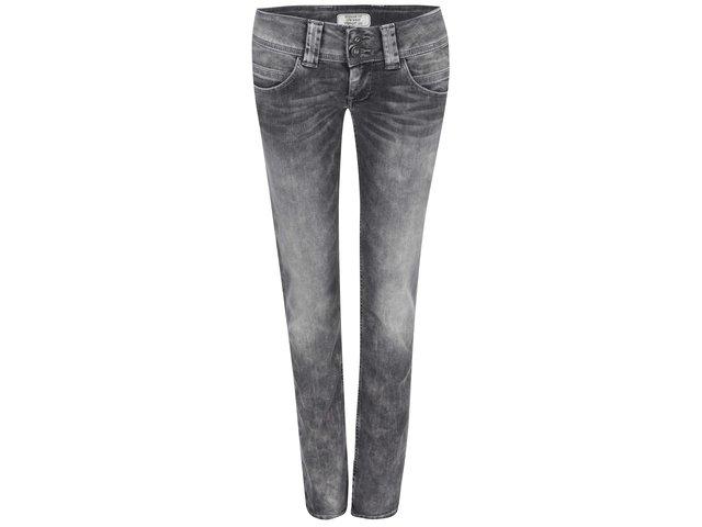 Šedé dámské džíny s nízkým pasem Pepe Jeans Venus