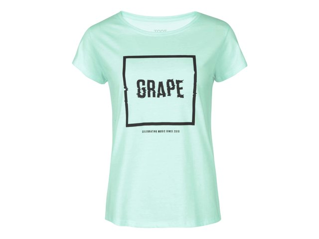 Mentolové dámské triko Grape Logo Square