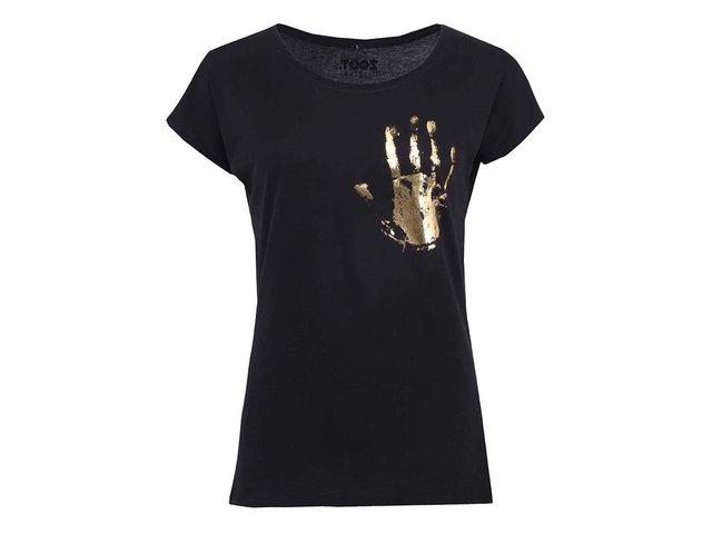 Černé dámské tričko ZOOT Originál Zlatý otisk