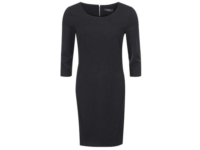Černé šaty s 3/4 rukávem VILA Asmin