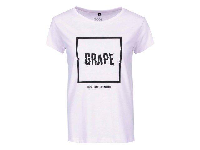 Fialové dámské triko Grape Logo Square