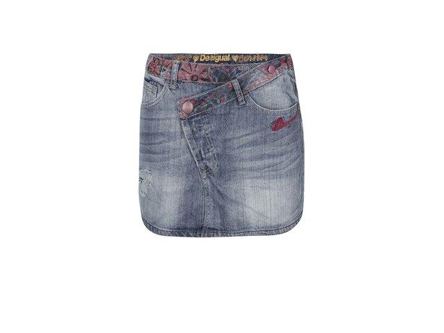 Džínová sukně se vzorem Desigual Oneprint
