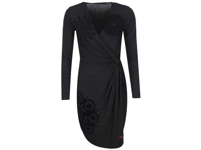 Černé šaty se vzorem Desigual Celia