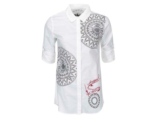 Bílá košile se vzorem Desigual Blackville