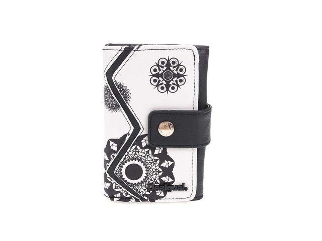 Bílo-černá peněženka se vzory Desigual Geofresh