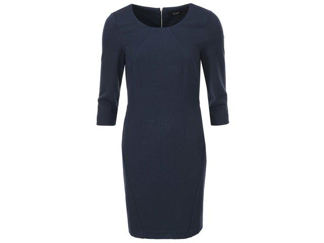 Modré šaty s 3/4 rukávem VILA Asmin