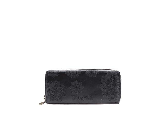 Černá velká peněženka s ornamenty Desigual