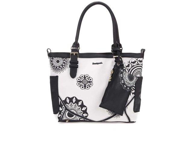 Černo-bílá kabelka s peněženkou Desigual Saint Tropez Geofresh