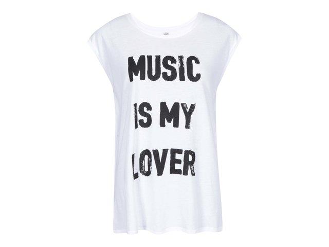Bílé dámské tričko ZOOT Originál Music is my lover