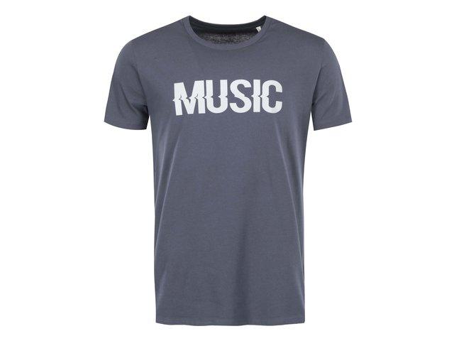 Modrošedé pánské triko ZOOT Originál Music