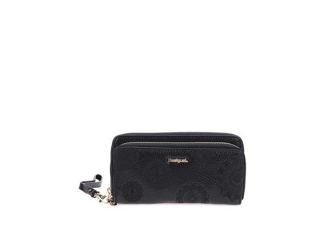 Černá velká elegantní peněženka s poutkem Desigual Alexa