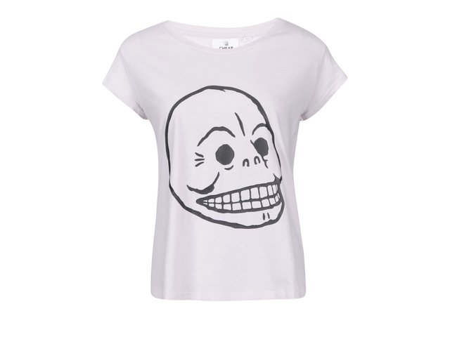 Světle růžové dámské tričko Cheap Monday Cracked skull
