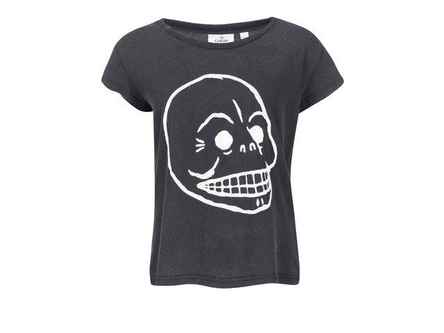 Černé dámské tričko Cheap Monday Cracked skull